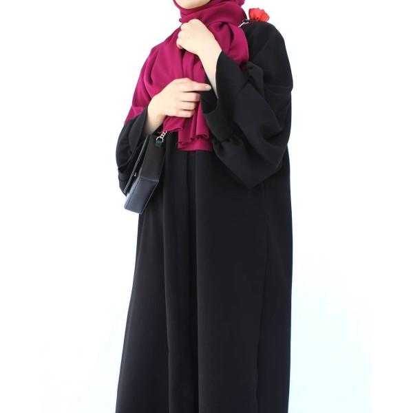 Siyah Pelikan Kol Abaya