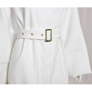 White Sash Abaya