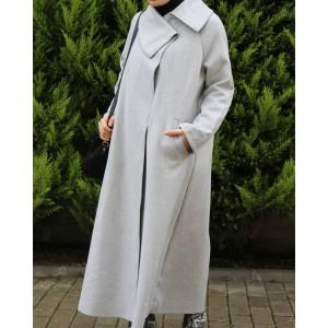 Asymmetric Collar Cashmere Jacket