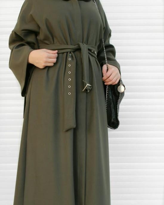Army Green Sash Abaya