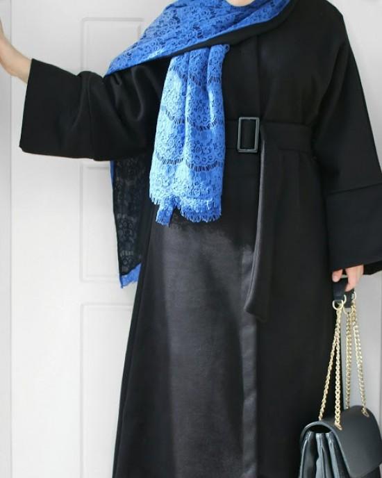 Black Cashmere Abaya