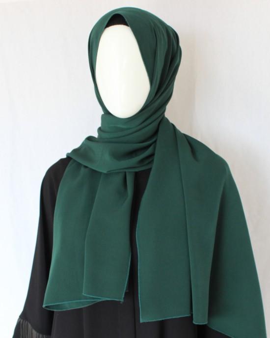 Emerald Green Crepe Shawl