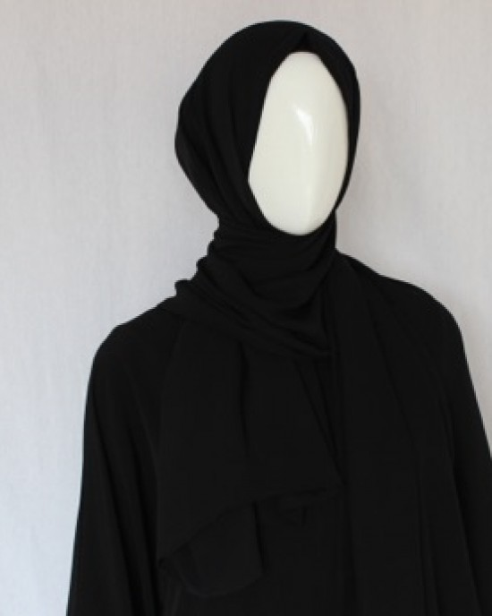 Black Double Sided Chiffon Shawl