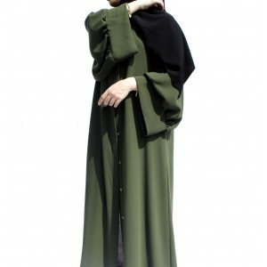 Soldier Green Pelican Arm Abaya
