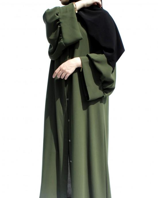 Soldier Green Pelican Arm Abaya
