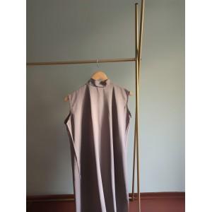 Mink Color Sleeveless High Neck Dress