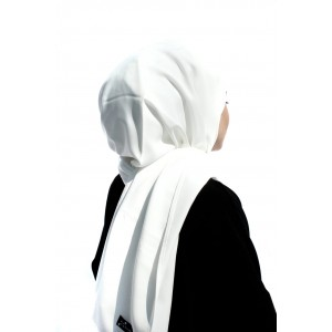 White Crepe Shawl