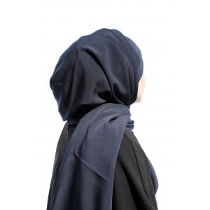 Dark Blue Crepe Shawl
