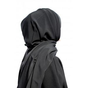 Black Crepe Shawl