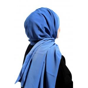 Jean Blue Crepe Shawl