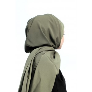 Soldier Green Crepe Shawl
