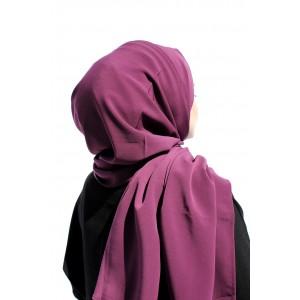 Light Purple Crepe Shawl