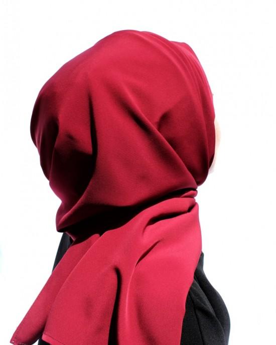 Dark Red Crepe Shawl