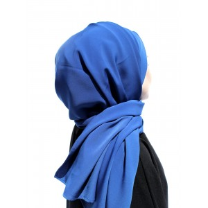 Saxe Blue Crepe Shawl