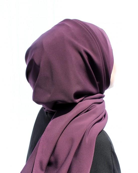 Dark Purple Crepe Shawl