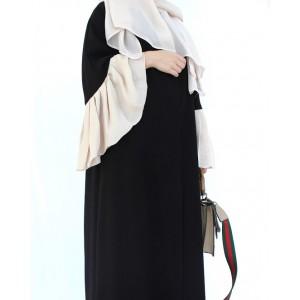 French Linen Detailed Abaya