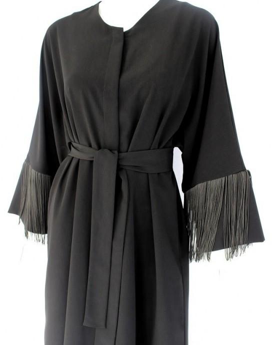 Black Fring Abaya